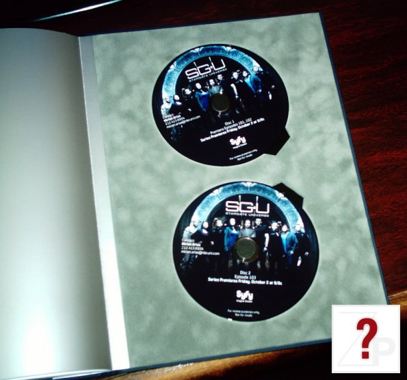 Stargate Universe press kit DVDs